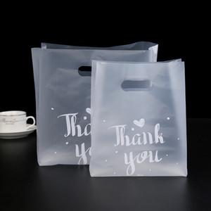 50 adet Taşınabilir Plastik torba Kalınlaşmak Temizle reticule Bake Ekmek Tatlı Bisküvi Cookie için Şükran Günü ederiz