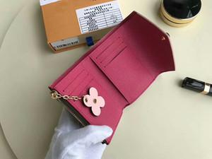 Marque Femmes en cuir véritable pièce de monnaie en cuir véritable Short Hasp portefeuille titulaire de la carte Clemence sac à main à fermeture à glissière 108