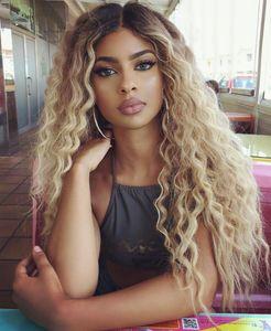 Parrucche dei capelli umani della parte anteriore del merletto del blonde 1b / 613 per le parrucche piene del merletto dei capelli del Virgin dell'onda del corpo dei capelli del Virgin brasiliano con capelli naturali dei capelli del bambino