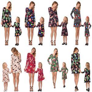 Maman Et Moi Famille Assortir Des Vêtements Mère Et Fille Associer Des Robes De Cerfs De Noël Imprimé Robe Famille Rechercher Enfants Vêtements Tenues