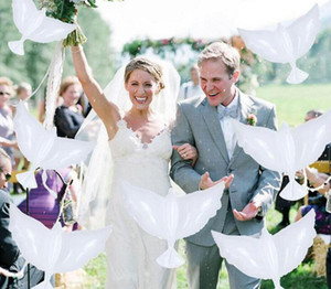 Colombe blanche hélium de mariage gonflables Ballons biodégradables pour les colombes de décoration de mariage en forme de ballons bio