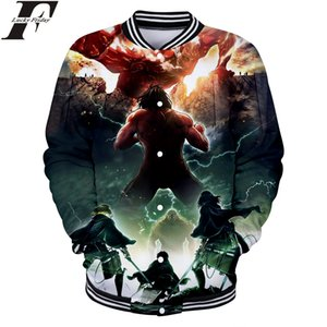 2018 Titan 3D Baseball Jacket에 대한 공격 2018 Anime Man / Women 폭격기 Jacket winter coat 일반 의류