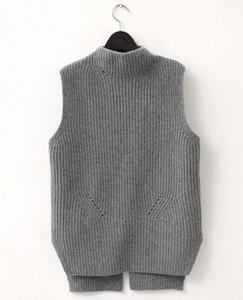 2018 новая мода дамы вязаный кашемир шерсть жилет камзол жилет семь pin высокое качество бесплатная доставка