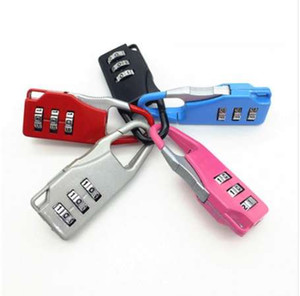 NUEVO 3 Mini Dial Digit Número Código Contraseña Combinación Candado Seguridad Viaje Cerradura segura para candado Bloqueo de equipaje de gimnasio