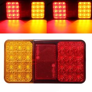 24LED 12 V Reboque Do Caminhão Luzes Traseiras Brake Stop Indicador de Volta da cauda LEVOU Lâmpadas Para Reboques Do Carro Caminhões Utes Barcos