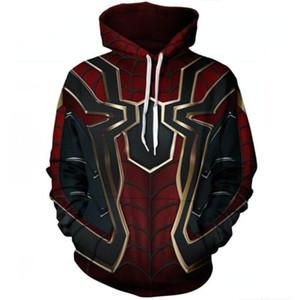 Cosplay Avengers Infinity Savaş Demir Örümcek Polyester Hoodie Kazak Ceket Cadılar Bayramı Spiderman Superhero Erkekler Cosplay Kostüm