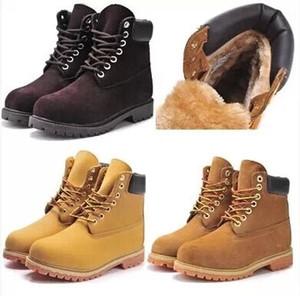 Top-Qualität 100% echtes Leder Winter Schnee Stiefel Männer Frauen Outdoor Stiefel Kuh Lederschuhe Wanderschuhe Größe 35 ~ 47