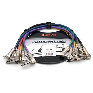 JOYO pédale d'effet Câble CM-05 1.2ft Câble coloré Mono Shielded mâle à 6.3mm 6.3mm mâle Angle fiche du câble