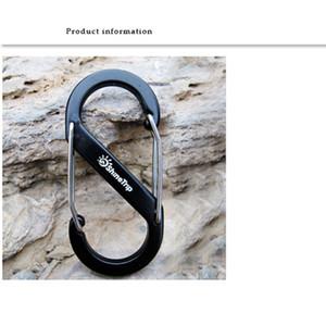 4 colors Shape Outdoor Carabineer & Quickdraw Aluminum alloy Survival Buckle Locking Carabiner Keychain Tools 2504117