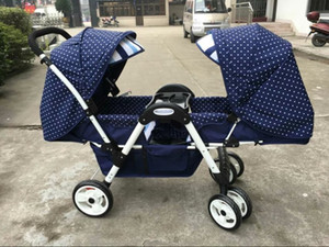 baby stroller high landscape stroller face to face can sit lying lightweight folding high quality twins