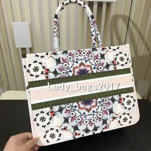 Classique fleurs de fleurs de cerisier colorés Livre Totes femmes sac à main imprimé sac en toile brodé de grande capacité sacs de bourse