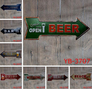 Cerveja de café Garagem cupcake Sair Do Vintage Seta Irregular Placa de Lata de Presente Artesanato Placa De Parede Café Supermercado Decoração