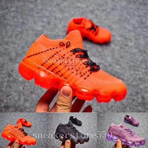 nike vapormax 2018 air max airmax Yeni bebek çocuk erkek kız vapormax koşucu Rahat Ayakkabılar erkek kız vapormaxes eğitmenler örgü sneaker Hava yastığı çocuk ayakkabı Boyutu: 28-35