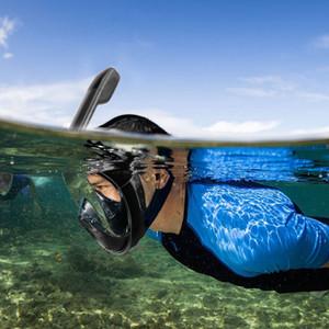 YaHey Scuba GoPro Máscara de buceo para la cámara Natación subacuática Snorkel Mask Anti Fog Full Face Snorkeling con anillo antideslizante Tapones para los oídos