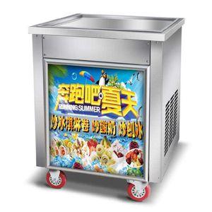 Однокамерные Коммерческого Fried Ice Cream машина промышленного лед Сковорода машина Ролл Ice Cream Maker Цена