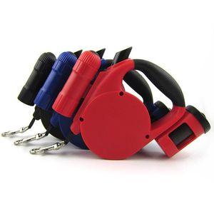 Recém Cão de Estimação Leash Retrátil Luz LED Saco de Limpeza Para Pequeno Médio Produtos Collar Dog Harness Cadeia Forte 3 Cores 5 M