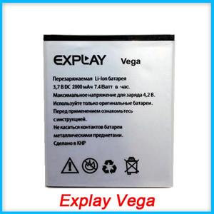 Explay Vega 2000mAh Original Li-ion Rechargeable Phone Battery For Vega Batterie Bateria Batterij Free Shipping + Tracking Cord