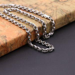 Personnalisé 925 bijoux en argent américain concepteur européen fait main argent antique style vintage collier épais pour les hommes
