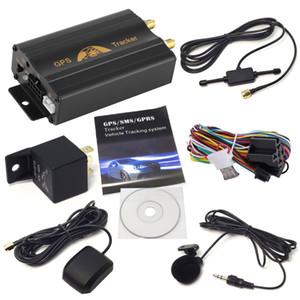 Оптовая устройства GPS трекер слежения автомобилей Гусеничный Retainer Coban TK103B Cut Off нефти GSM GPS Locator Voice Monitor Shock Alarm FREE Web APP