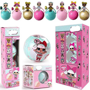 Single 7cm Überraschung Puppe 8 Styles dreischichtigen Membran LoL Puppe Ei Spielzeug PVC Kawaii Kinder Spielzeug