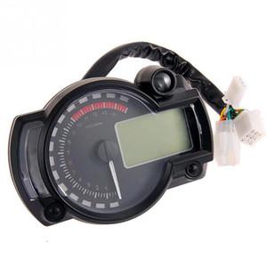 Velocímetro digital de la motocicleta Indicador LCD Indicador del nivel de aceite del medidor de velocidad del tacómetro Cuentakilómetros cuentakilómetros Odómetro