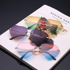 Fashion Heart Shaped Sonnenbrillen Frauen Metall Reflective Retro Sonnenbrillen Ray Männer Spiegel oculos de sol