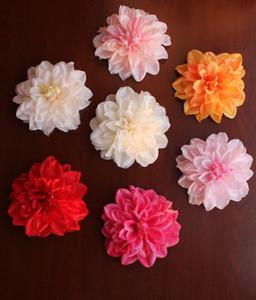 12 cm Dahlia flor cabeça imitação dália peônia decoração de casamento DIY flor de jardim flor arco de chumbo