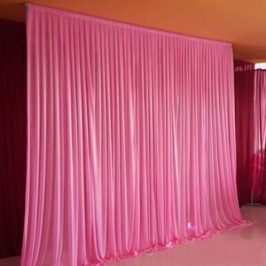 10ft * 10ft خلفية بيضاء بيضاء الستار مهرجان الاحتفال الزفاف المرحلة الأداء خلفية خلفية backcloth الجدار أي لون customi