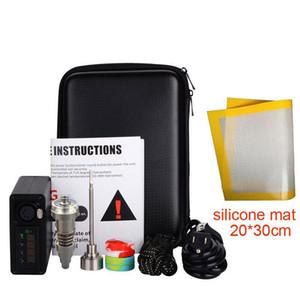 Enail Portable kit for Wax enail Dab Rig With Quartz Titanium Nail Carp cap Wax container Dab mat for Glass Bubbler Water Bong
