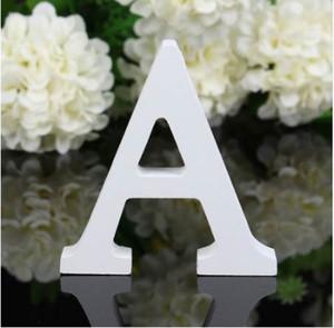 8X1.2cm (spesso) Legno Legno Lettere Bianche Alfabeto Free Standing Wedding Birthday Party Home Decor Accessori