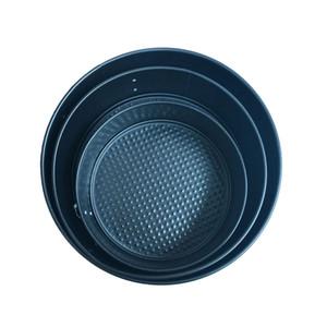 Aço 3pcs carbono bolo Baking Pan parte inferior do molde removível Bakeware Pan 7/9/10 polegadas