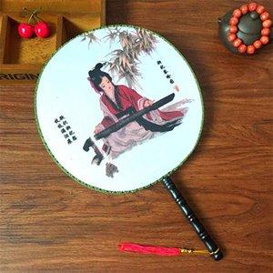 Sahne Malzemeleri Zarif Vintage Dans Fan Çince Geleneksel Yuvarlak İpek El Fan Ev Oda Dekorasyon Hediyeler 2 4xx Z gerçekleştirin