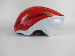 LURHACHI C-019 أحمر أبيض / أزرق / أسود / ذهبي Time Trail Bicycle Helmet خوذة دراجة هوائية