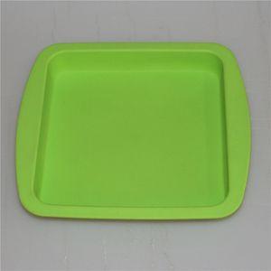 """пищевой силикон Силиконовый воск поднос тарелка глубокая сковорода квадратной формы 8""""Х8"""" чистого силиконового концентрата лоток БДХ"""