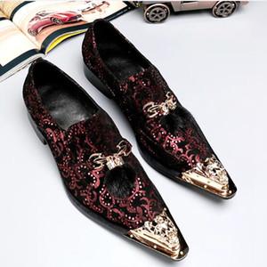 Mens moda em relevo vestido de couro sapatos de luxo dos homens de metal apontou toe lace derby estilo sapatos de casamento sapatos de festa de carreira de luxo
