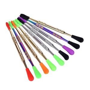 2018 Dab Werkzeug Bunte Metall Werkzeug C Edelstahl Dabber Werkzeug für Trockene Heb Wax Atomizer Vapor Pen Kit