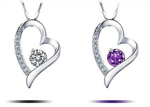 2018Il cristallo austriaco di alta qualità Diamonds Love Heart Pendant Statement Collana Fashion Class Women Girls Lady Swarovski Elements Jewelry