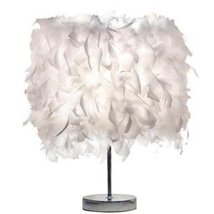 Candeeiro De mesa de penas Criativas Moda Branco Quarto Lâmpadas de Cabeceira Sala de estar de Casamento Aniversário Mesa Decorativa Luz EUA # 45