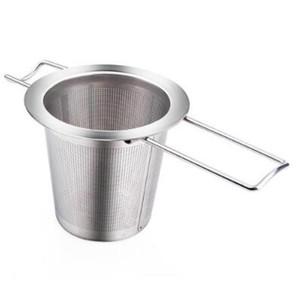Riutilizzabile in acciaio inossidabile del tè infuser filtro carrello pieghevole Tea Infuser carrello colino da tè Per Teiera CCA9198-1 50pcs