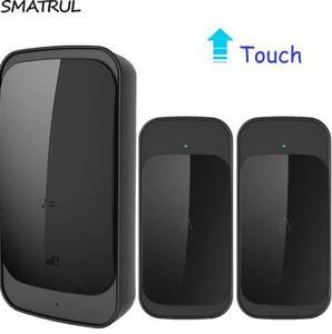 SMATRUL 터치 방수 무선 Doorbell EU US 플러그 280M 장거리 스마트 도어 벨 Chime batttery 2 버튼 1 수신기