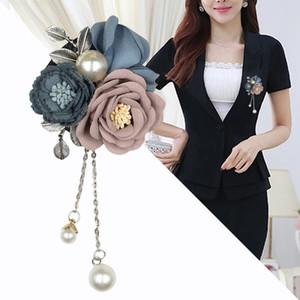 I-Remiel Flores Borlas Broche Mulheres Cachecol Tuxedo Decoração de Luxo Doce Fresco Broches e Pins Cardigan Casacos Acessórios