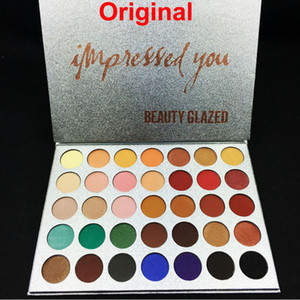 Belleza esmaltadas 35 colores de sombra de ojos paleta de sombra de ojos impresionado maquillaje mate paleta de sombra de ojos brillo marca de cosméticos profesionales