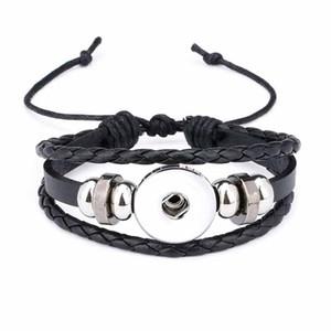 Original de la manera 317 de la armadura de la mano del cuero genuino 18 mm 12 mm broche de botón a presión pulsera intercambiable joyería para mujeres adolescentes