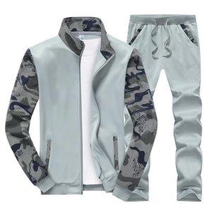 Dimusi Spring Hommes Sportwear Ensembles Survêtement Homme Outwear Sweatshirts Patchwork pied de col Homme Survêtement 4XL, Ta046