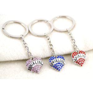 Portachiavi Fascino albicocca FU Collana a catena portachiavi a forma di cuore con catena a forma di cuore
