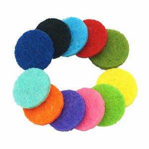 15mm en forma de medallón de 20 mm Coloridos cojines de fieltro de aromaterapia Resultados de la joyería mezclar almohadillas de colores aptos para aceite esencial difusor medallón
