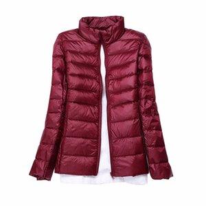 2019 Winter Women Ultra Light Down Jacket 90% Duck Down Hooded Jackets Long Sleeve Slim Warm Coat Parka Female Portabl Outwear