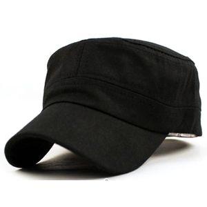 Mejor 1 UNID Moda Hombres Mujeres Multicolor Unisex Ajustable Estilo Clásico Llano Plano Vintage Army Hat Cadet Cat