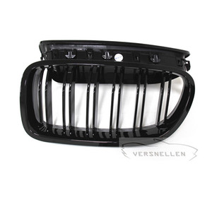 Quality Fitment Carbon Fiber Dual Slat Front Kidney Grills Gloss Black Three Color M Look for BMW 5 Series F10 M5 2010 ON