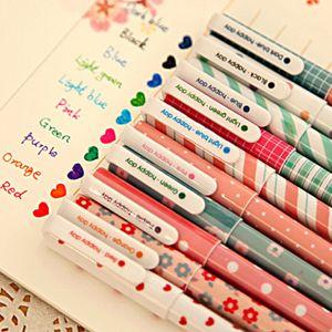 Color Ink Gel Pen Set cielo stellato Animal Flower Design per Scrivere Disegnare marcatura può sostituire Ricariche 10pcs / set WJ030